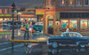 Small Town Saturday Night - 300pc Large Format  Jigsaw Puzzle By Sunsout