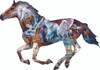 The Mystery of the Horse - 800pc Shaped Jigsaw Puzzle By Sunsout