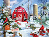 A Snowy Day on the Farm - 300pc Large Format Jigsaw Puzzle By Sunsout