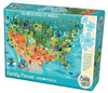 The United States of America - 350pc Family Jigsaw Puzzle by Cobble Hill