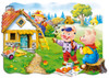 Three Little Pigs - 30pc Shaped Puzzle by Castorland