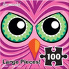 Pink Owl Monster - 100pc Jigsaw Puzzle by Re-marks