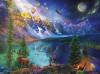 Day to Night: Lake Moraine Journey - 1000pc Jigsaw Puzzle by Buffalo Games