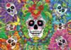 Sugar Skulls - 1000pc Glow in the Dark Jigsaw Puzzle by EDUCA