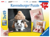 Funny Animal Portraits - 3x49pc Jigsaw Puzzle By Ravensburger
