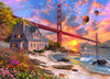 Golden Gate Sunset - 1000pc Jigsaw Puzzle by Vermont Christmas Company