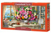 Summer Flowers and Cup of Tea - 4000pc Jigsaw Puzzle By Castorland