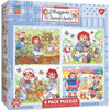 Raggedy Ann & Andy 4-pack - 100pc Jigsaw Puzzle Set by MasterPieces