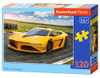 Yellow Sportscar - 120pc Jigsaw Puzzle By Castorland