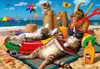 Cats on the Beach - 260pc Jigsaw Puzzle by Anatolian