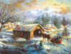 Over the Covered Bridge 500 - 500pc Jigsaw Puzzle By Sunsout