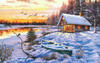 Log Cabin - 550pc Jigsaw Puzzle By Sunsout