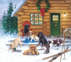 Christmas at the Cabin - 550pc Jigsaw Puzzle By Sunsout