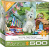 Scottie Dog Picnic - 500pc Large Piece Jigsaw Puzzle by Eurographics