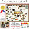 Puzzle Combos: Animal Nursery - 500pc Crossword Jigsaw Puzzle by Sunsout