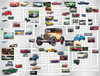 Puzzle Combos: Classic Cars - 500pc Crossword Jigsaw Puzzle by Sunsout