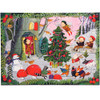 Christmas in the Woods - 20pc Glitter Jigsaw Puzzle by eeBoo