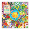 Flower Calendar - 1000pc Square Jigsaw Puzzle by eeBoo