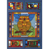 Stained Glass Owl - 1000pc Jigsaw Puzzle by JaCaRou