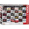 Corvette Evolution - 1000pc Jigsaw Puzzle by Eurographics