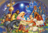 Baby in a Manger - 100pc Jigsaw Puzzle by Vermont Christmas Company