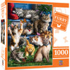 Furry Friends: Butterfly Chasers - 1000pc Jigsaw Puzzle by Masterpieces