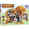 Puppy Pals - 100pc Shaped Jigsaw Puzzle by Masterpieces