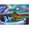 Crazy Shapes: Aurora over Iceland - 600pc Edgeless Jigsaw Puzzle By Trefl