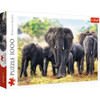 African Elephants - 1000pc Jigsaw Puzzle By Trefl