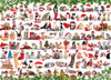 Holiday Cats - 1000pc Jigsaw Puzzle by Eurographics