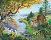 By the Lake - 1000pc Jigsaw Puzzle By White Mountain