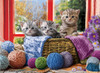Knittin' Kittens - 500pc Large Piece Jigsaw Puzzle by Eurographics