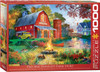 Campfire by the Barn - 1000pc Jigsaw Puzzle by Eurographics