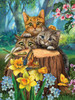 Fraidy Cats - 300pc Large Format Jigsaw Puzzle By Sunsout