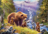 Grizzly Cubs - 500pc Large Format Jigsaw Puzzle by Eurographics