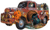 Harvest Truck - 1000pc Shaped Jigsaw Puzzle By Sunsout