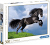 Fresian Black Horse - 500pc Jigsaw Puzzle by Clementoni