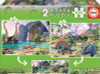 Dino World - 2x100pc Panoramic Jigsaw Puzzle by Educa