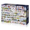 Cream Teas & Queuing - 1000pc Jigsaw Puzzle by Gibson