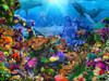 Magical Undersea Turtle - 550pc Jigsaw Puzzle by Vermont Christmas Company