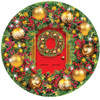 Green and Gold Wreath - 1000pc Shaped Jigsaw Puzzle By Sunsout