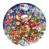 Reindeer Madness - 1000pc Shaped Jigsaw Puzzle By Sunsout
