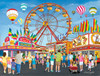 On the Midway - 300pc Large Format Jigsaw Puzzle By Sunsout
