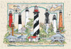 Lighthouses of Florida - 550pc Jigsaw Puzzle by Heritage Puzzle