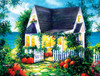Halloween Cottage - 300pc Large Format Jigsaw Puzzle By Sunsout