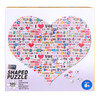 The Color of Love - 500pc Shaped Jigsaw Puzzle By Tomax