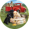 Seeds of Mischief - 500pc Round Jigsaw Puzzle By Sunsout