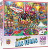 Greetings From: Las Vegas - 550pc Jigsaw Puzzle by Masterpieces