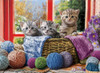 Knitten' Kittens - 500pc Large Format Jigsaw Puzzle by Eurographics