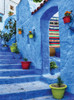 Blue Medina - 1000pc Jigsaw Puzzle By Serious Puzzles